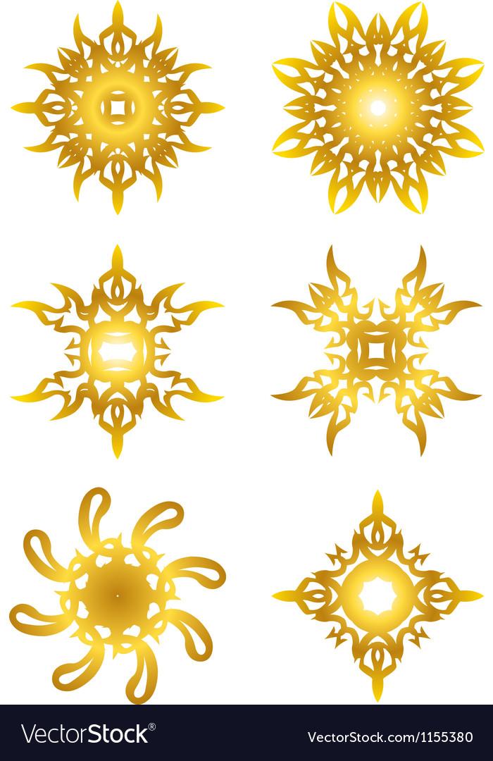 Gold star symbol vector | Price: 1 Credit (USD $1)