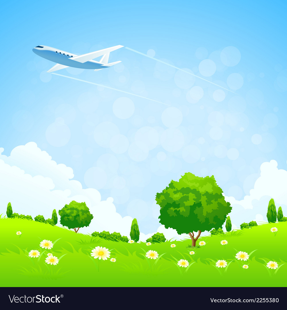 Green landscap vector | Price: 3 Credit (USD $3)
