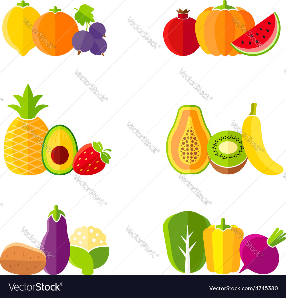 Healthy diet design elements with fruits vector | Price: 1 Credit (USD $1)