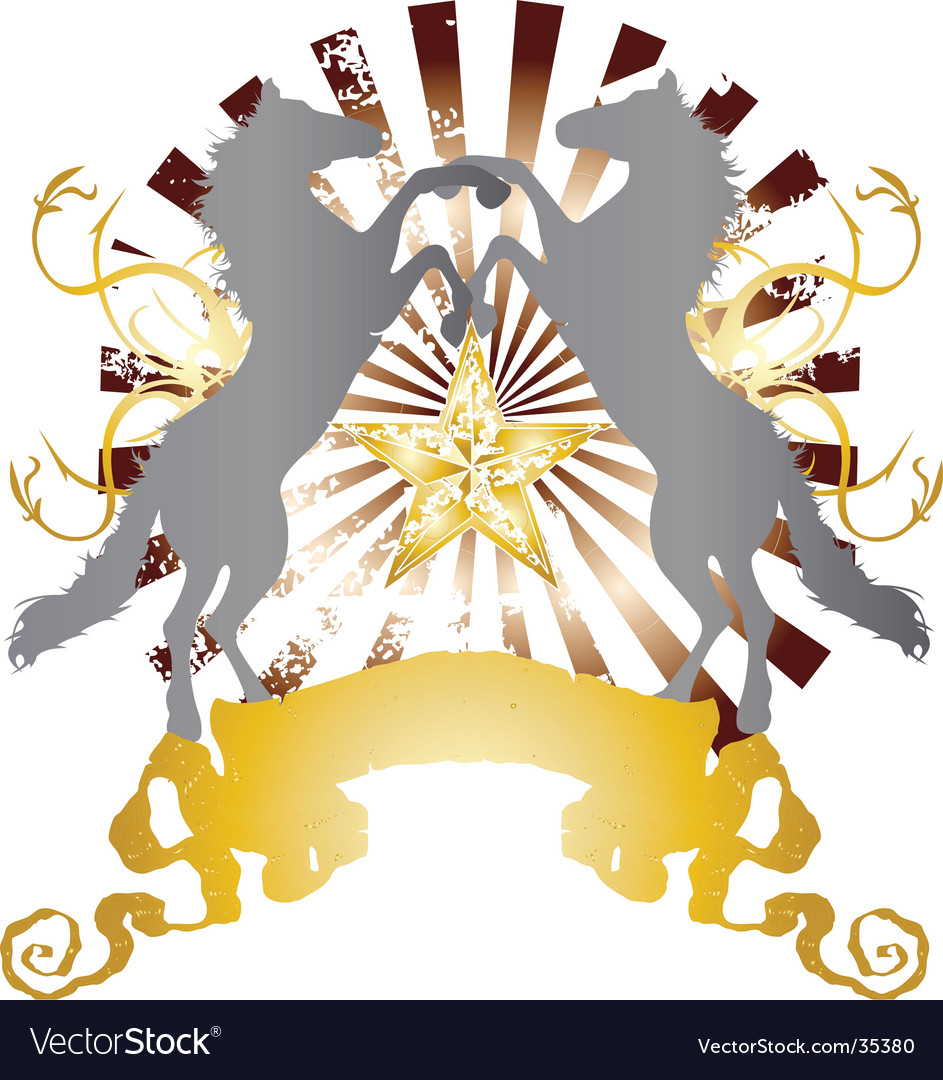 Heraldry horse design vector | Price: 1 Credit (USD $1)