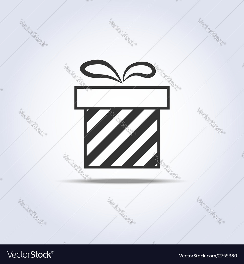 Icon of present box vector | Price: 1 Credit (USD $1)
