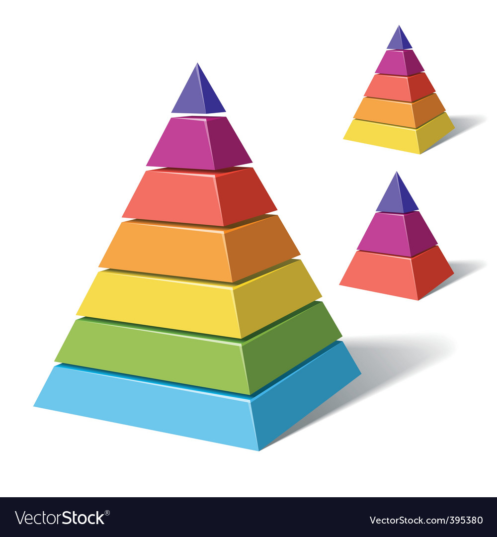 Layered pyramids vector | Price: 3 Credit (USD $3)