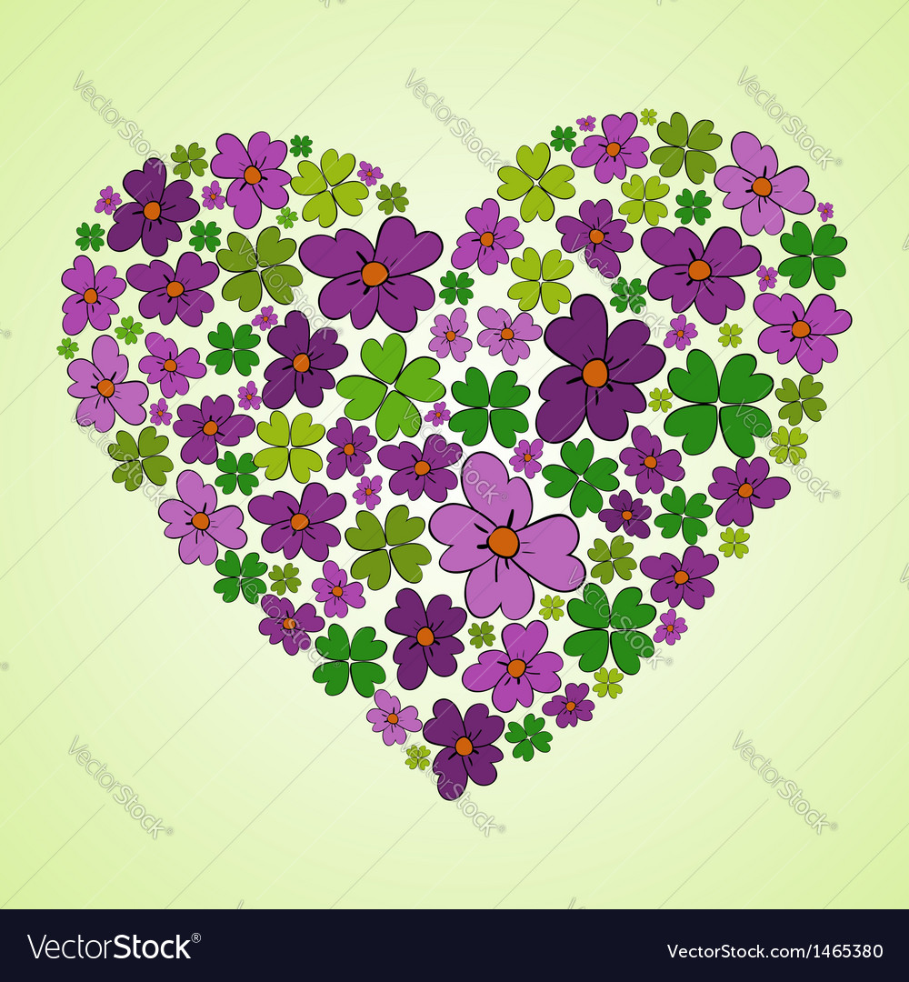 Love spring heart vector | Price: 1 Credit (USD $1)