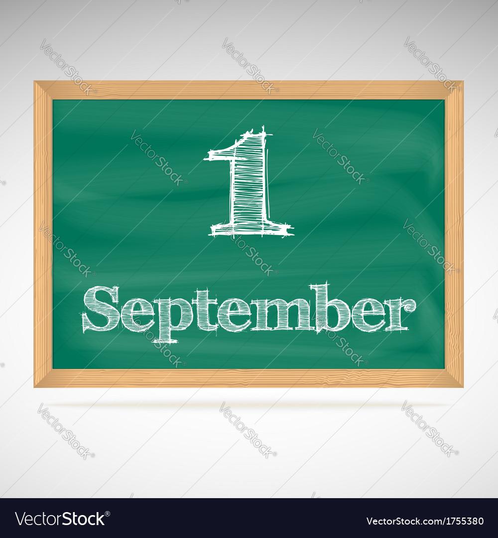 September 1 inscription in chalk on a blackboard vector   Price: 1 Credit (USD $1)
