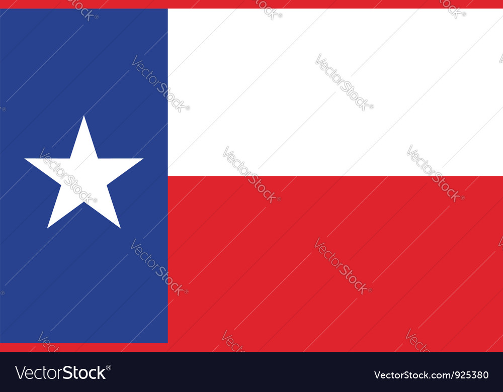 Texas flag vector | Price: 1 Credit (USD $1)