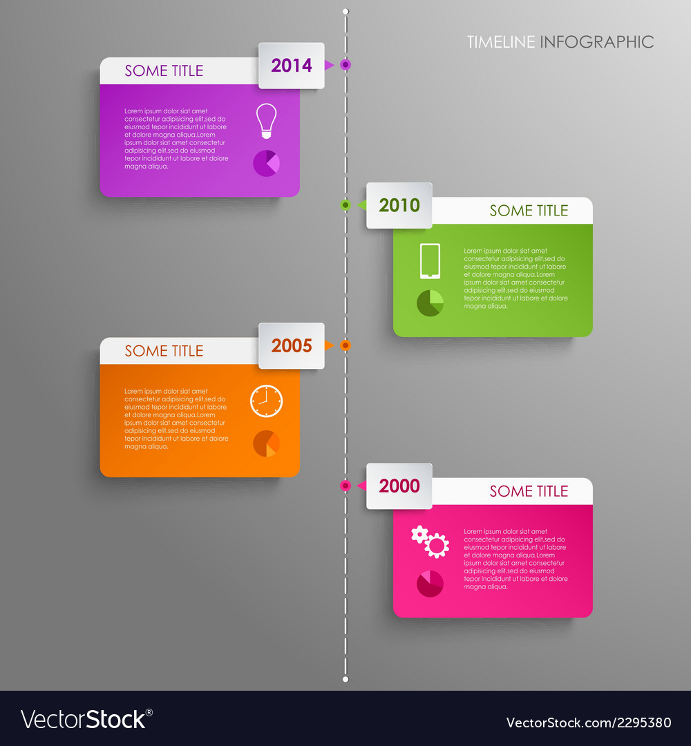 Time line info graphic template background vector | Price: 1 Credit (USD $1)