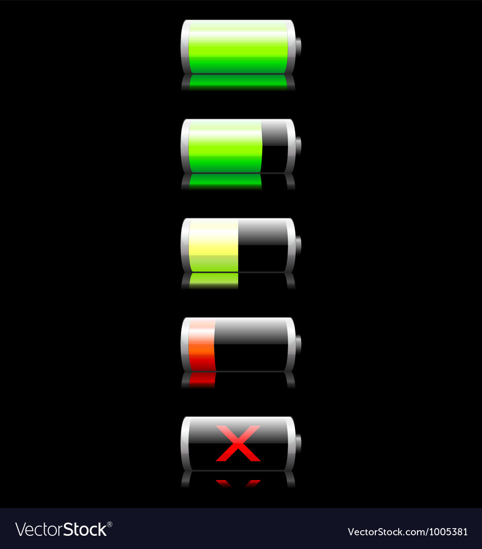 Battery charge indicator vector | Price: 1 Credit (USD $1)