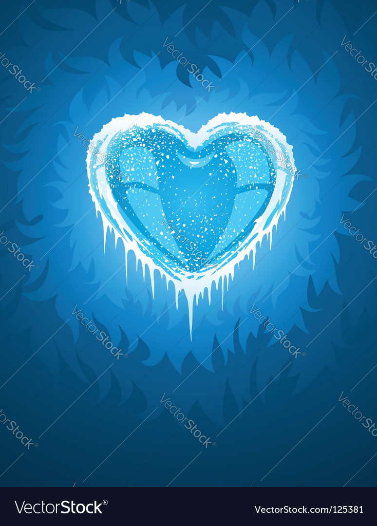 Cold icy heart vector | Price: 1 Credit (USD $1)