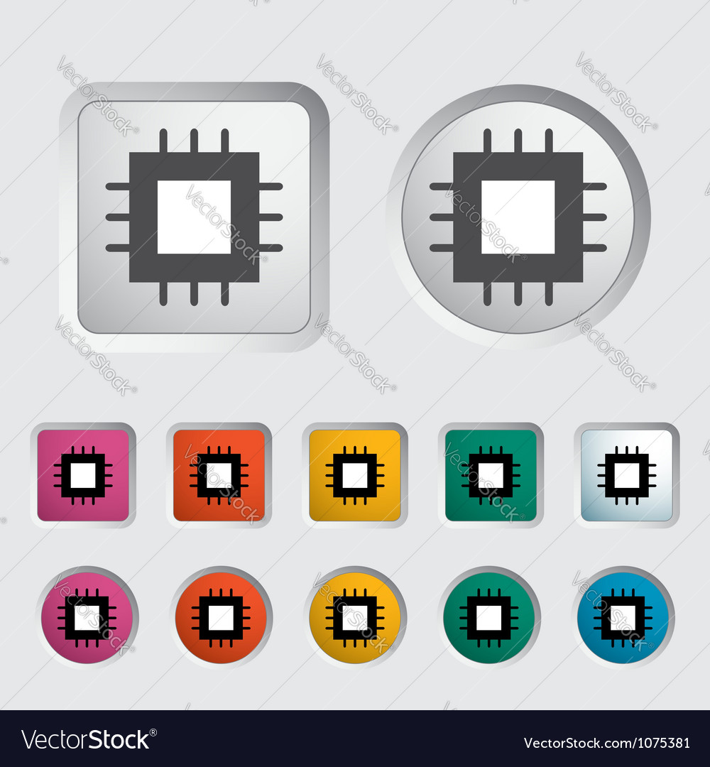 Electronic chip icon 2 vector | Price: 1 Credit (USD $1)