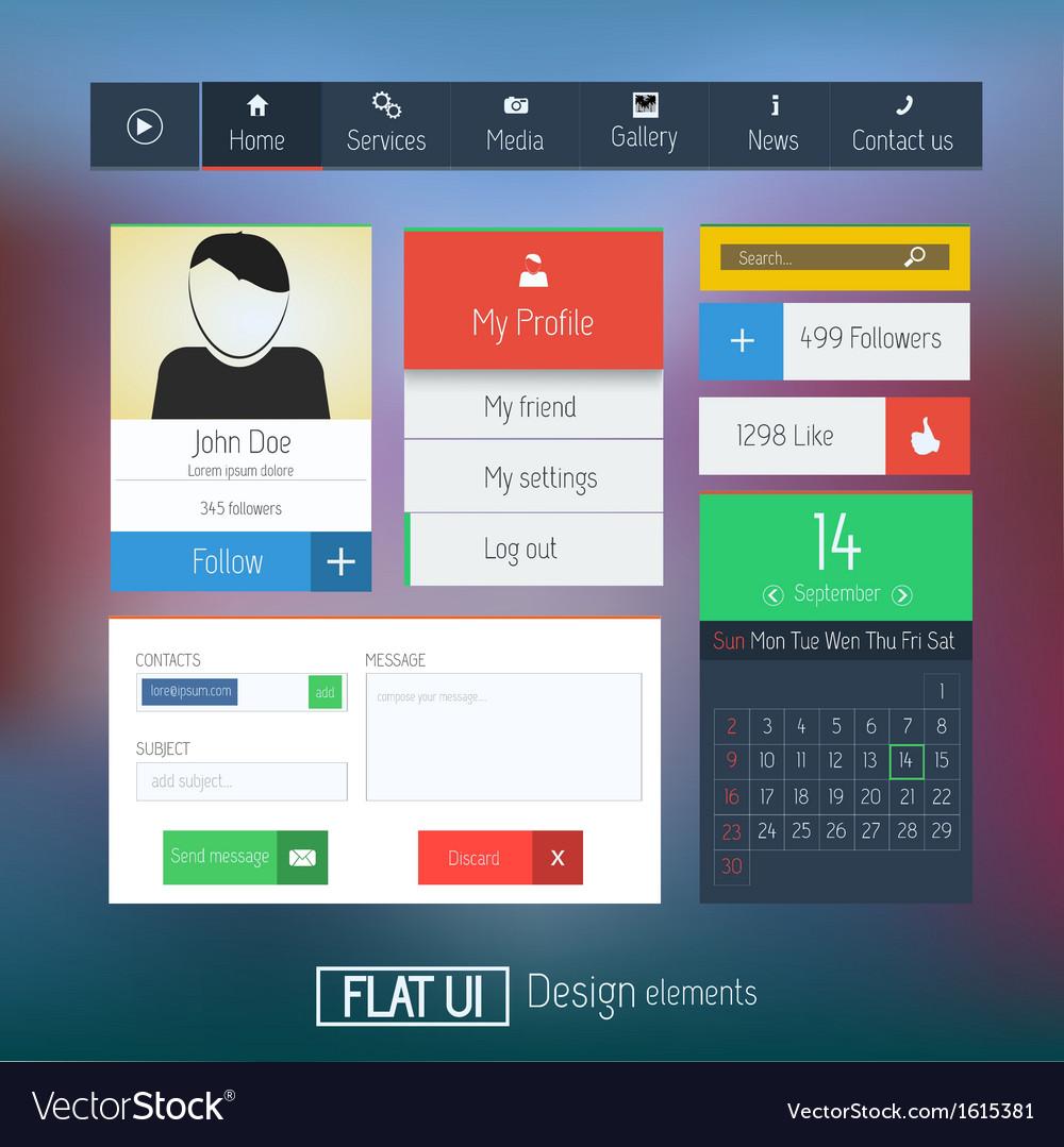 Flat web design elements 6 vector | Price: 1 Credit (USD $1)