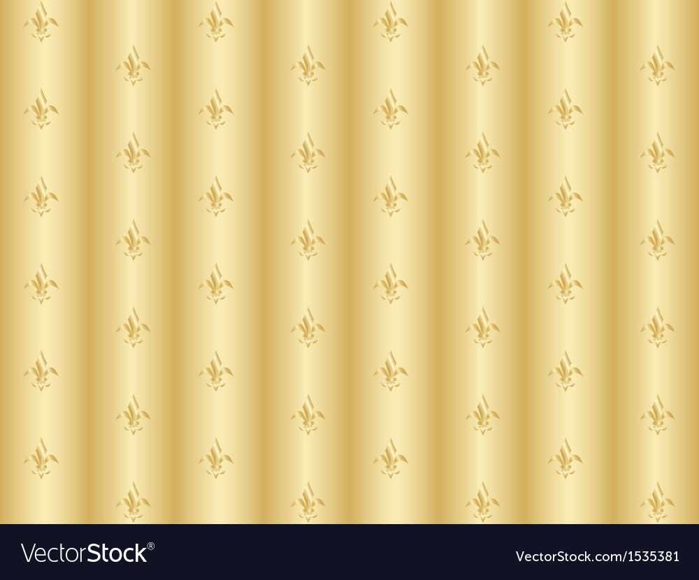 Golden pattern with royal lilies vector | Price: 1 Credit (USD $1)