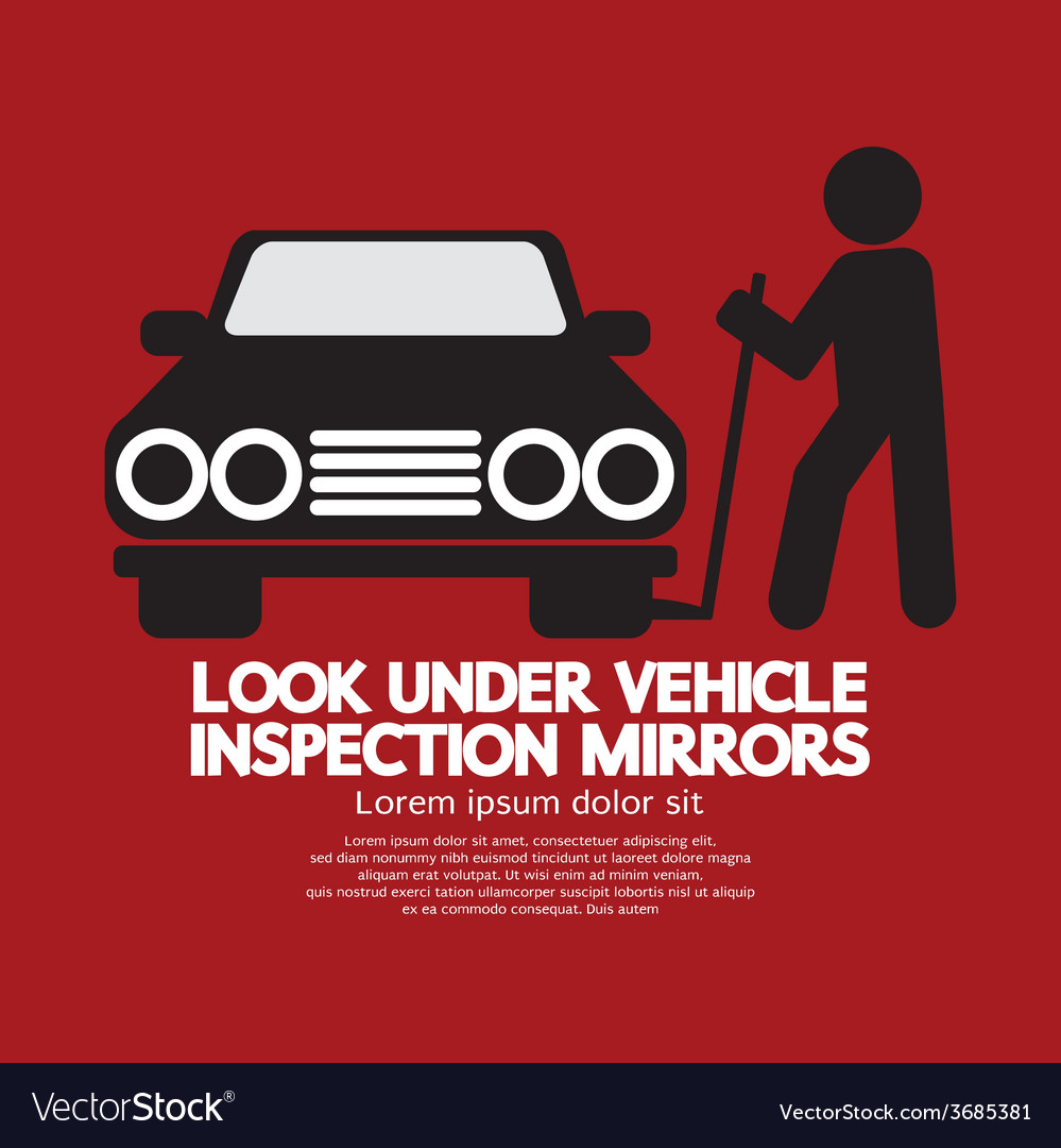 Lookunder vehicle inspection mirrors vector | Price: 1 Credit (USD $1)