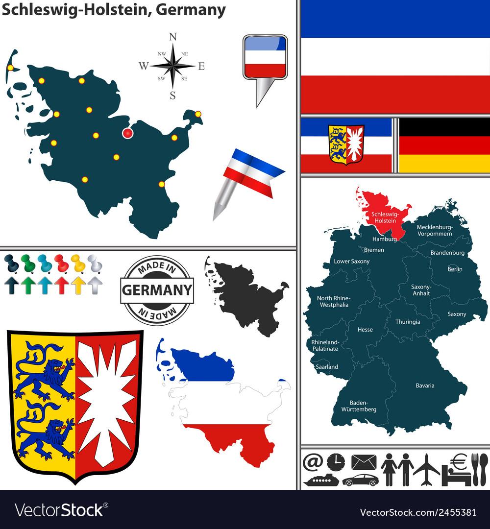 Map of schleswig holstein vector   Price: 1 Credit (USD $1)