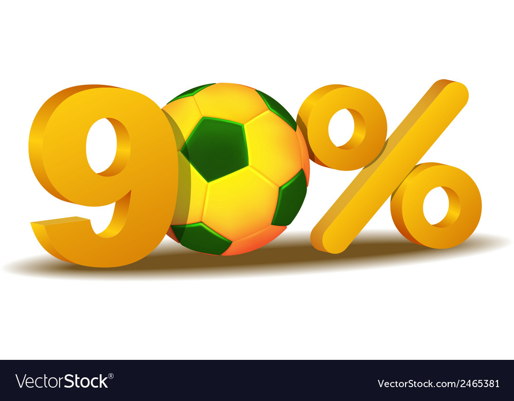 Ninety percent discount icon vector | Price: 1 Credit (USD $1)
