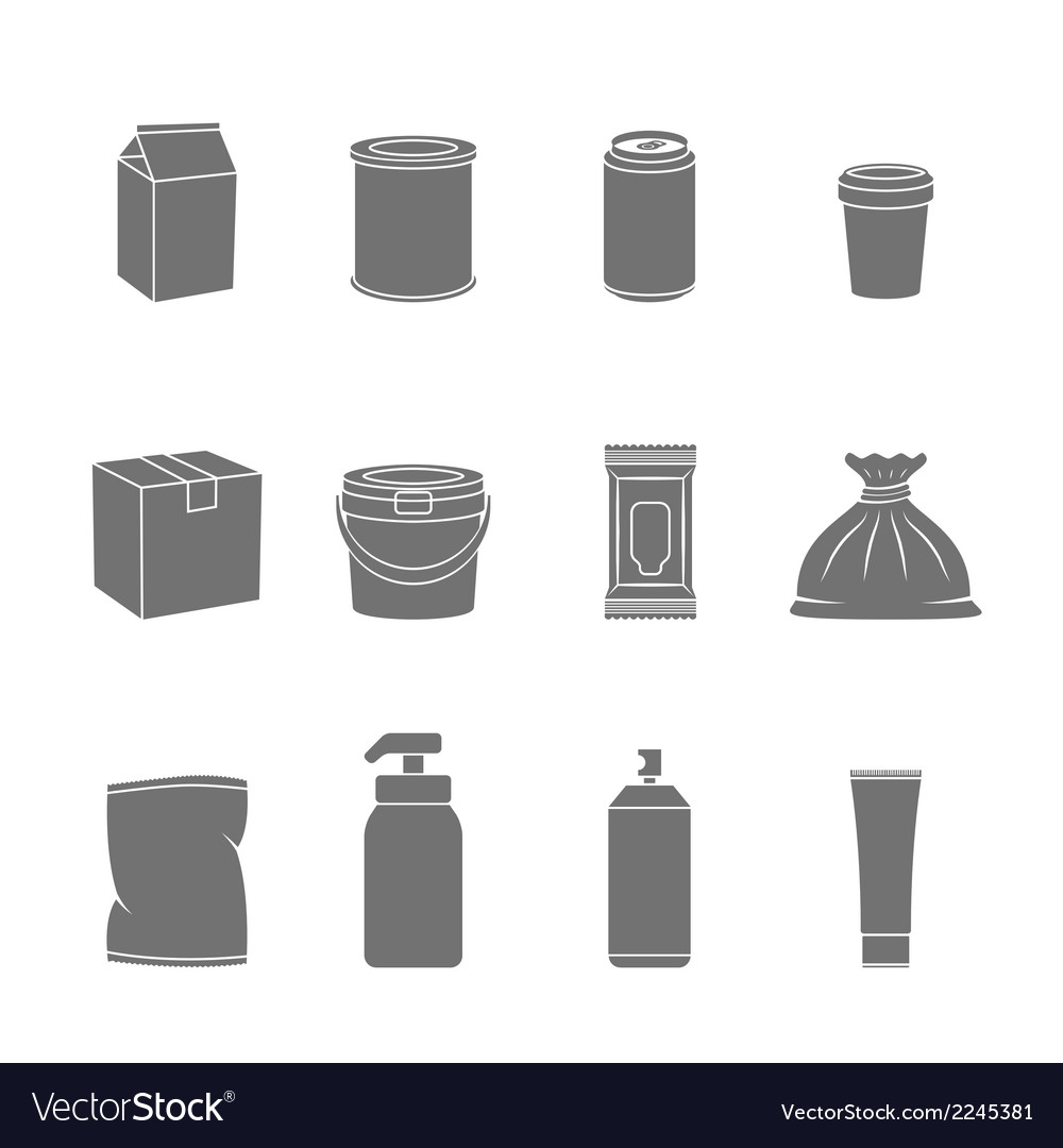 Pack container icons vector | Price: 1 Credit (USD $1)