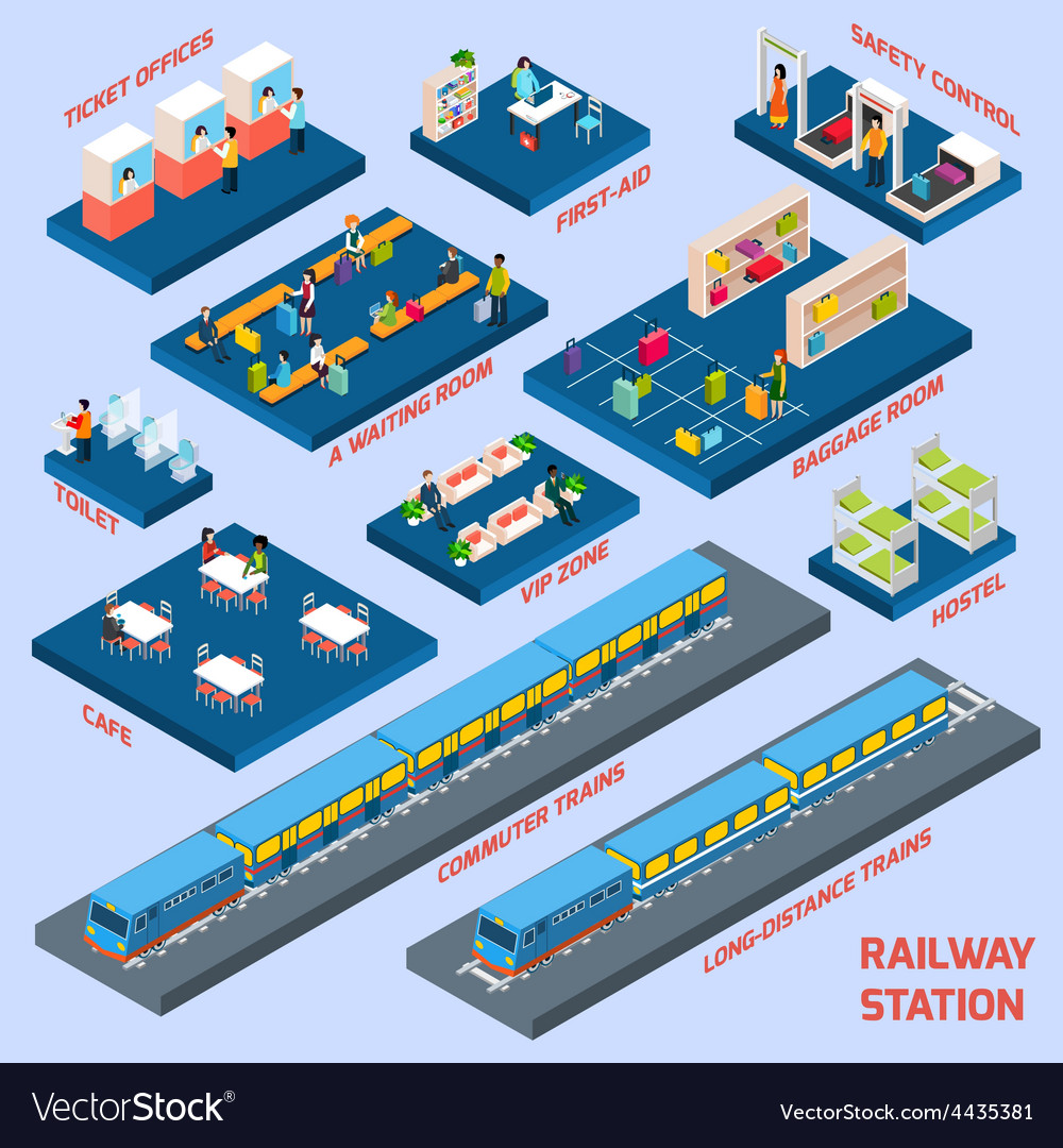 Railway station concept vector | Price: 1 Credit (USD $1)