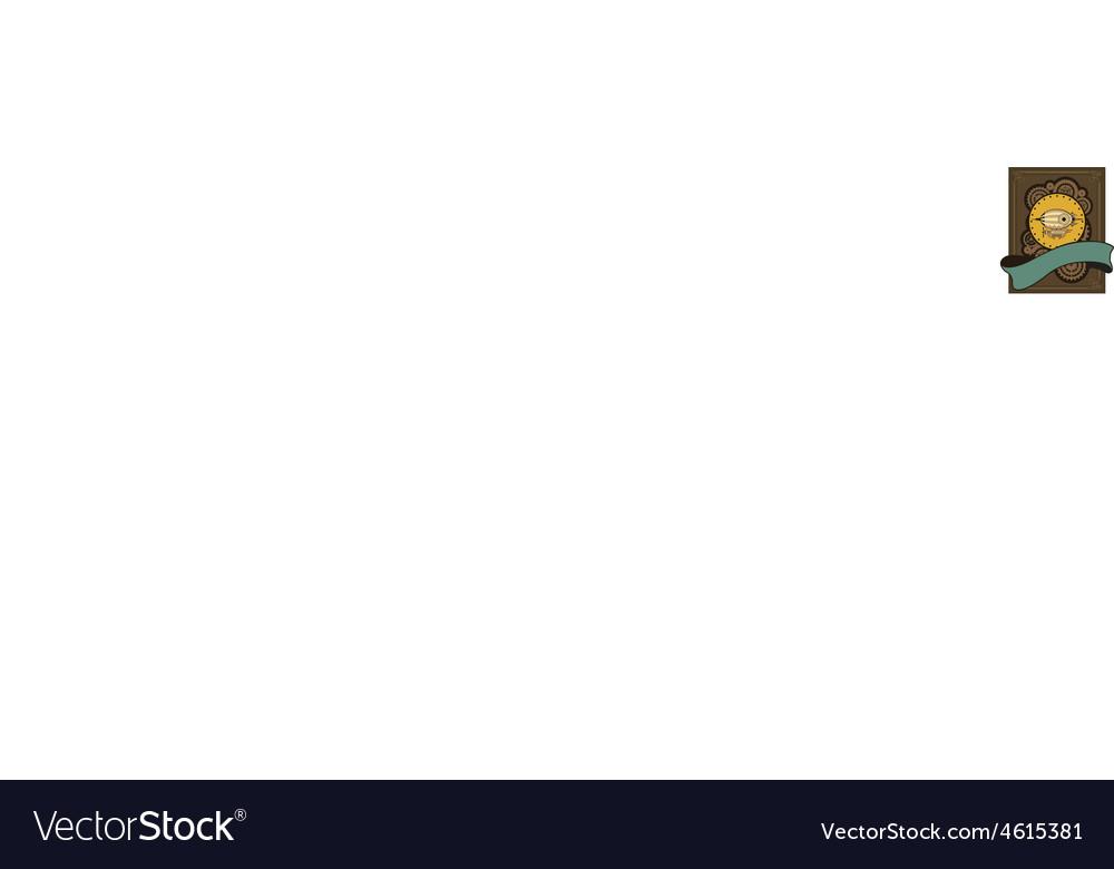 Steampunk dirigible vector | Price: 1 Credit (USD $1)