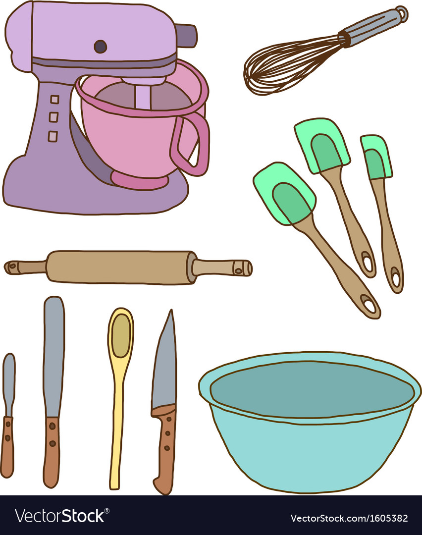 Baking items vector | Price: 1 Credit (USD $1)