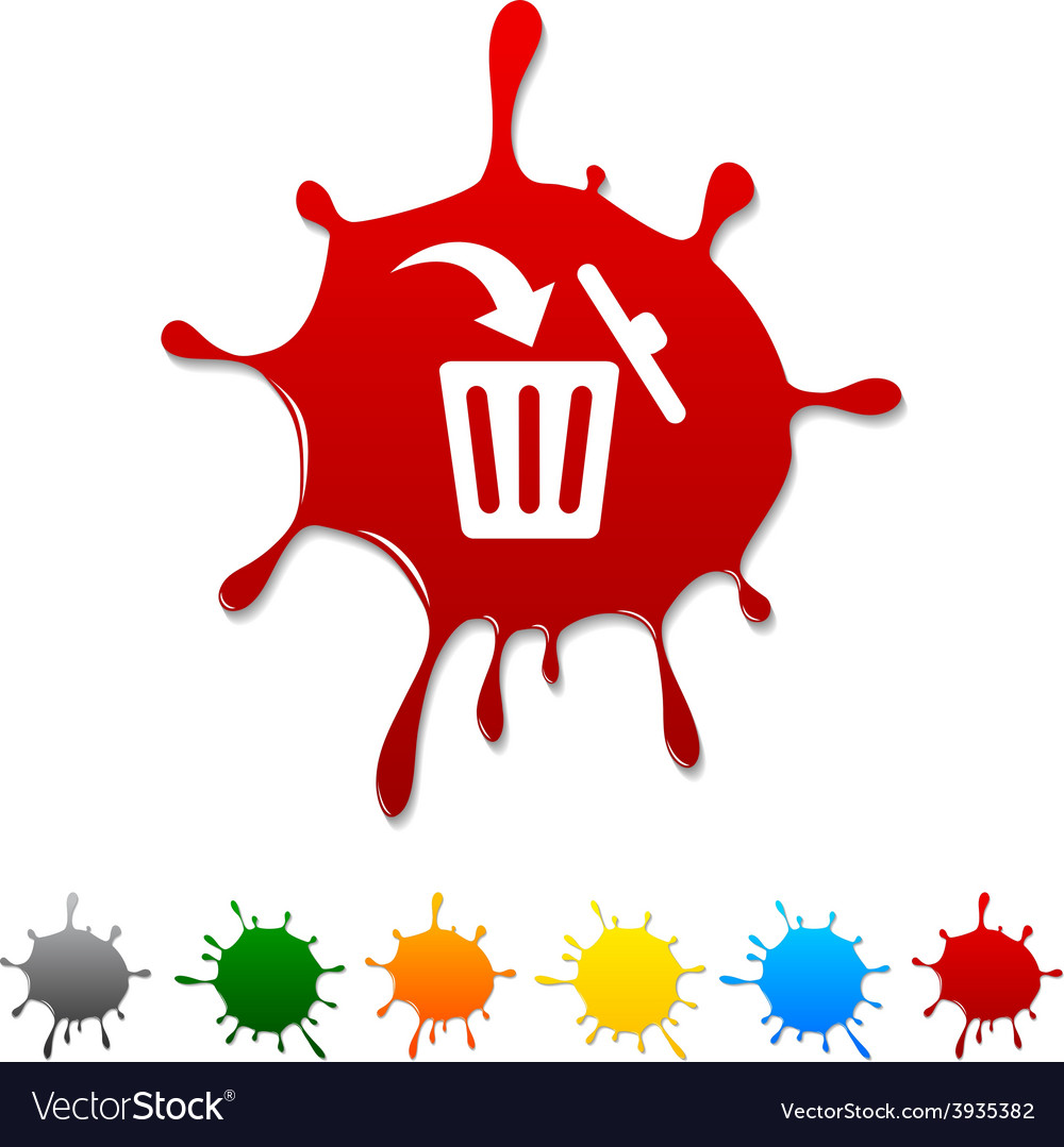 Delete blot vector | Price: 1 Credit (USD $1)