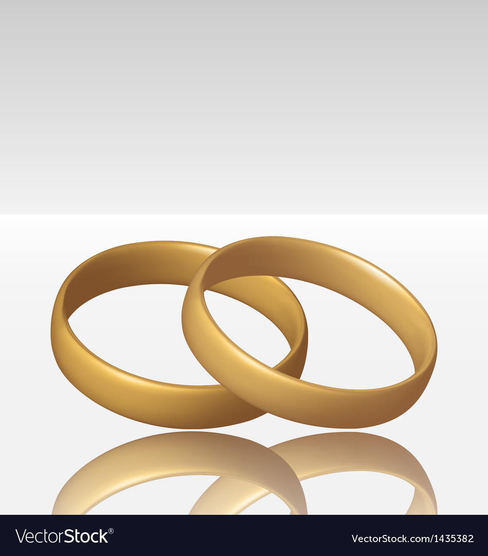 Jewelry two golden ring vector   Price: 1 Credit (USD $1)