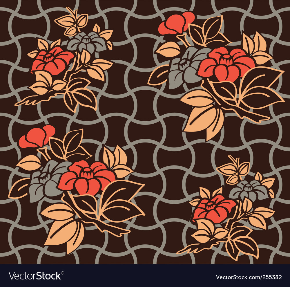 Kimono wallpaper pattern vector | Price: 1 Credit (USD $1)
