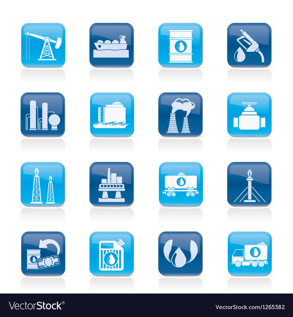 Petrol and oil industry icons vector | Price: 1 Credit (USD $1)