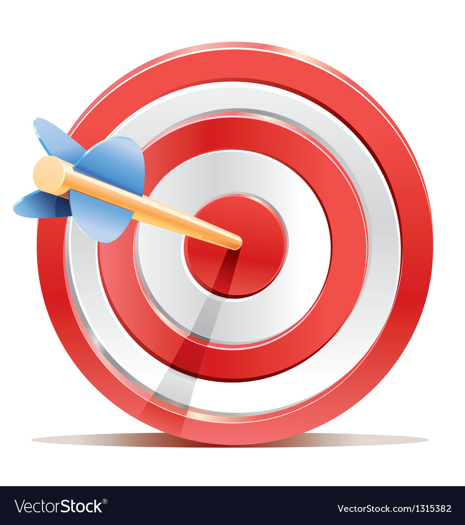 Red darts target aim and arrow vector | Price: 3 Credit (USD $3)
