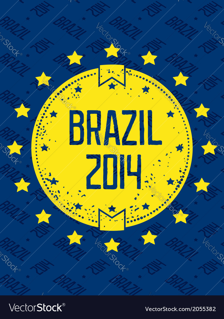Round grunge label - brazil 2014 vector | Price: 1 Credit (USD $1)