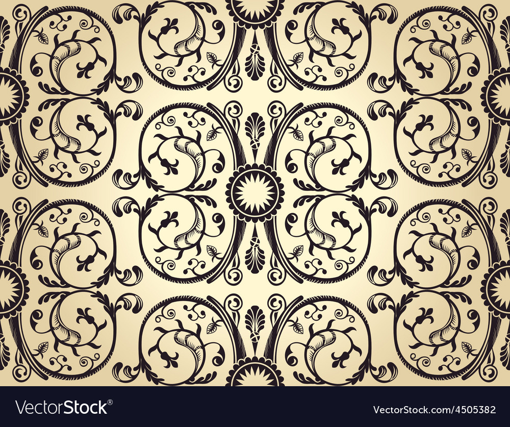 Seamless background pattern vintage heraldic vector | Price: 1 Credit (USD $1)