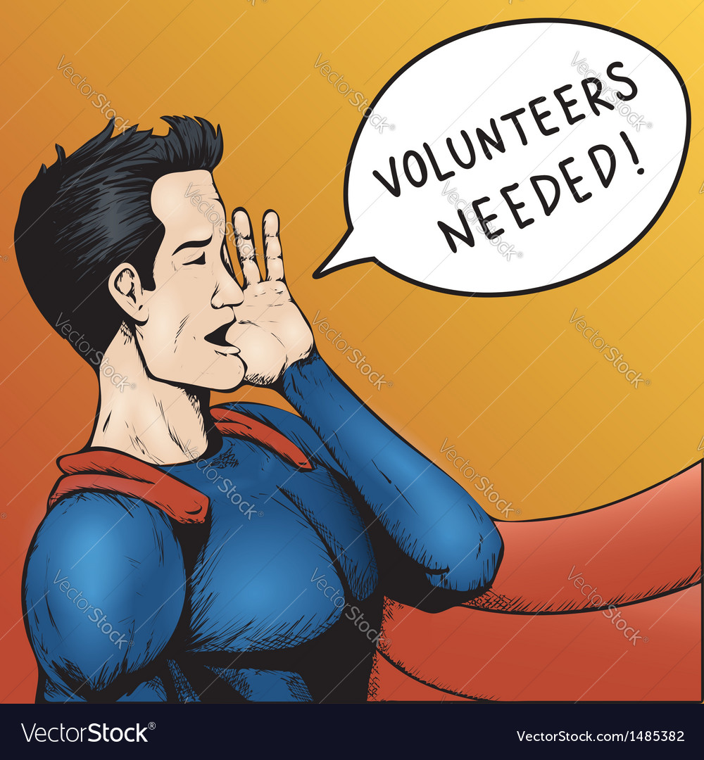 Volunteers wanted cartoon vector | Price: 1 Credit (USD $1)