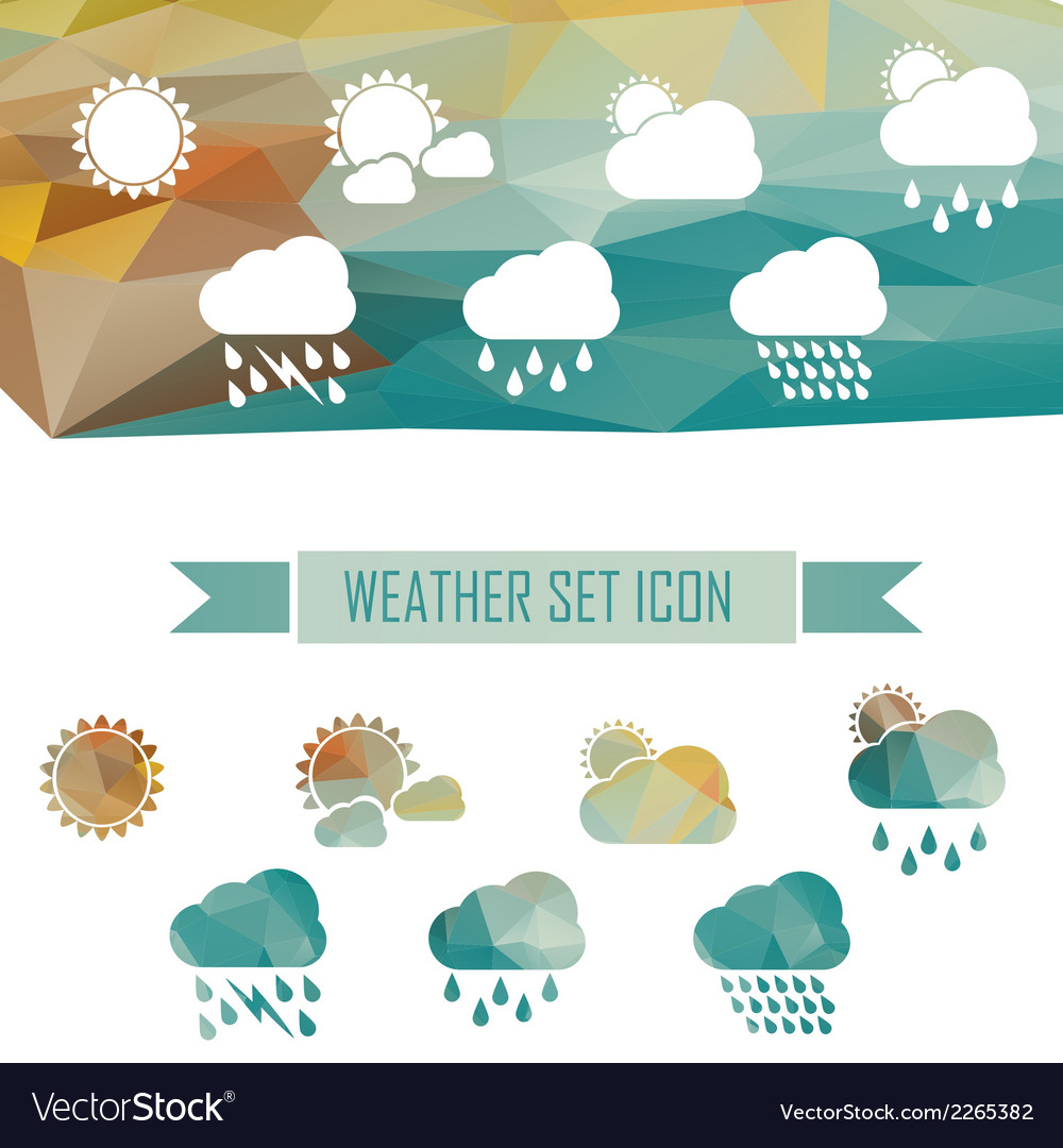 Weather icons in crystal effect vector | Price: 1 Credit (USD $1)