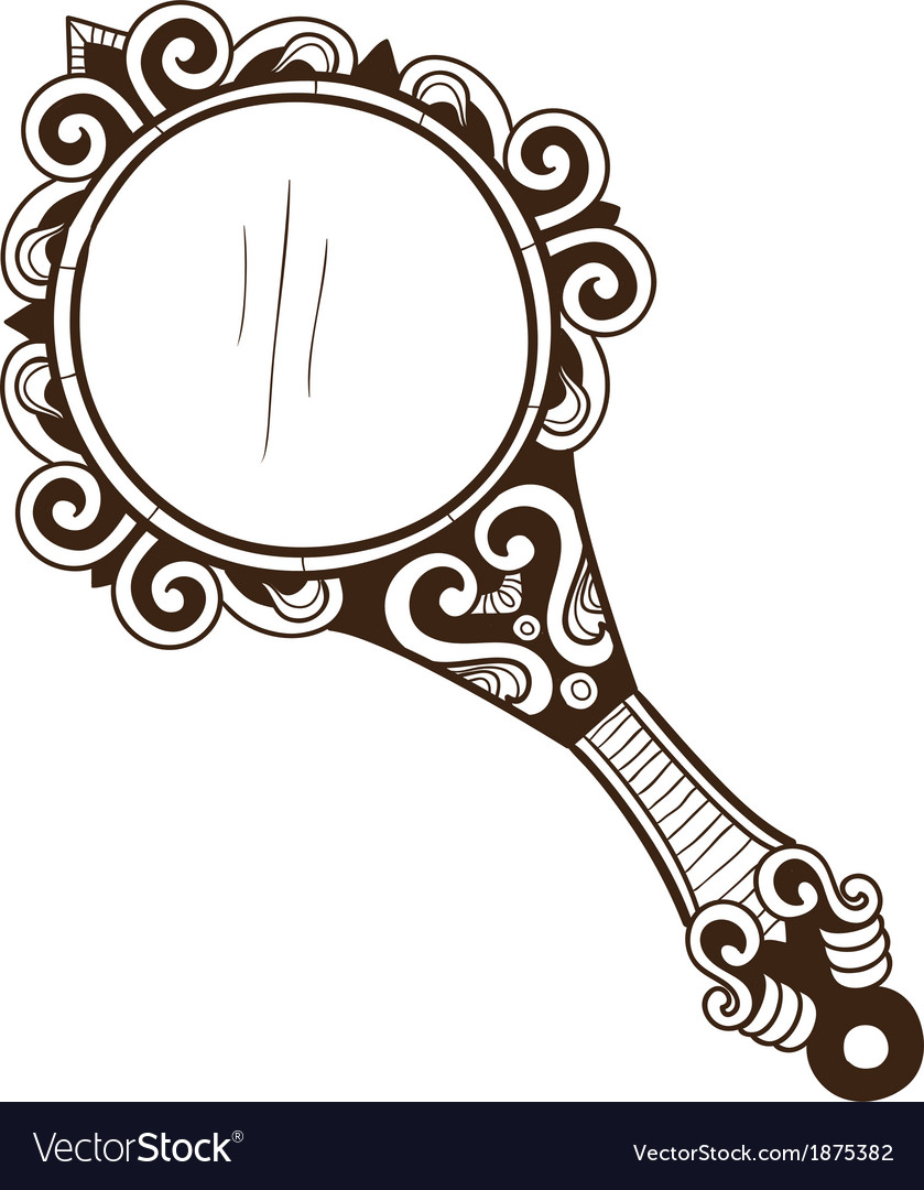 Womens pocket mirror vector