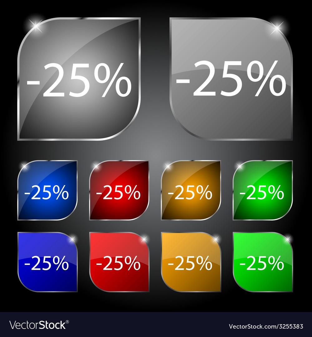 25 percent discount sign icon sale symbol special vector   Price: 1 Credit (USD $1)
