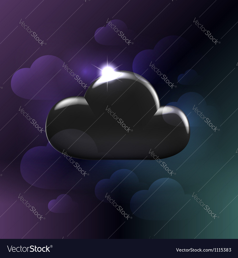 Black plastic glossy generic cloud vector | Price:  Credit (USD $)