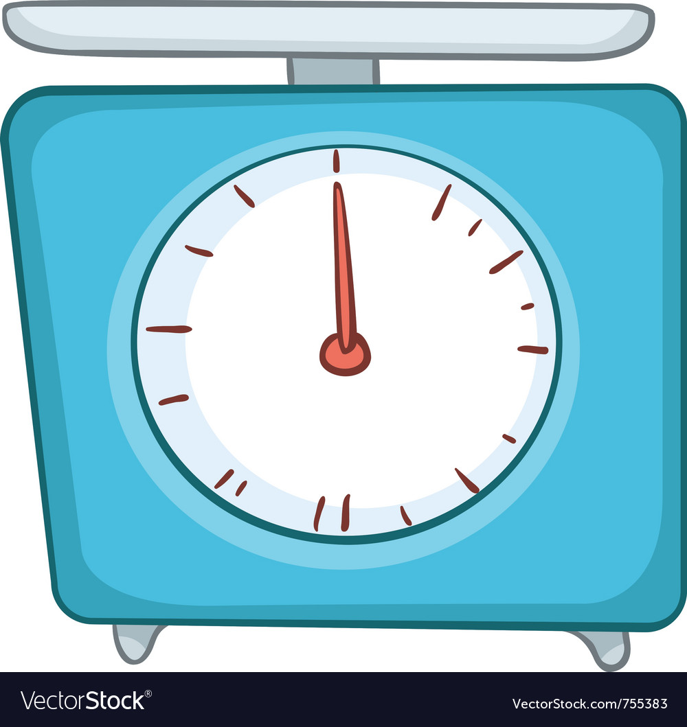 Cartoon home kitchen scales vector | Price: 1 Credit (USD $1)
