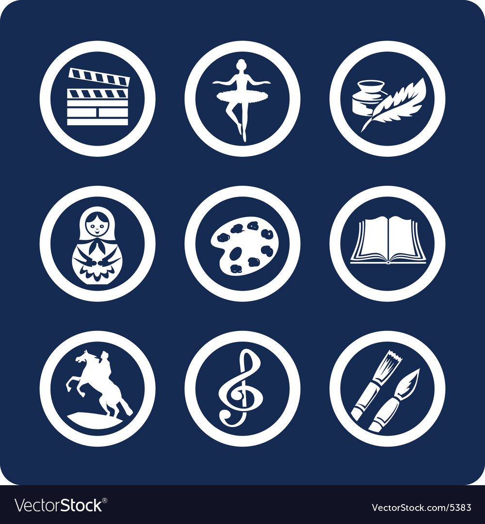 Culture and art icons vector | Price: 1 Credit (USD $1)