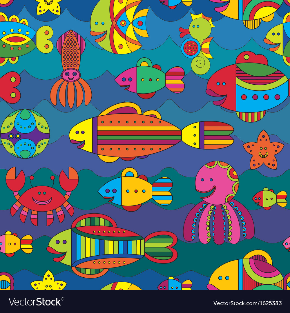 Fishes background vector | Price: 1 Credit (USD $1)