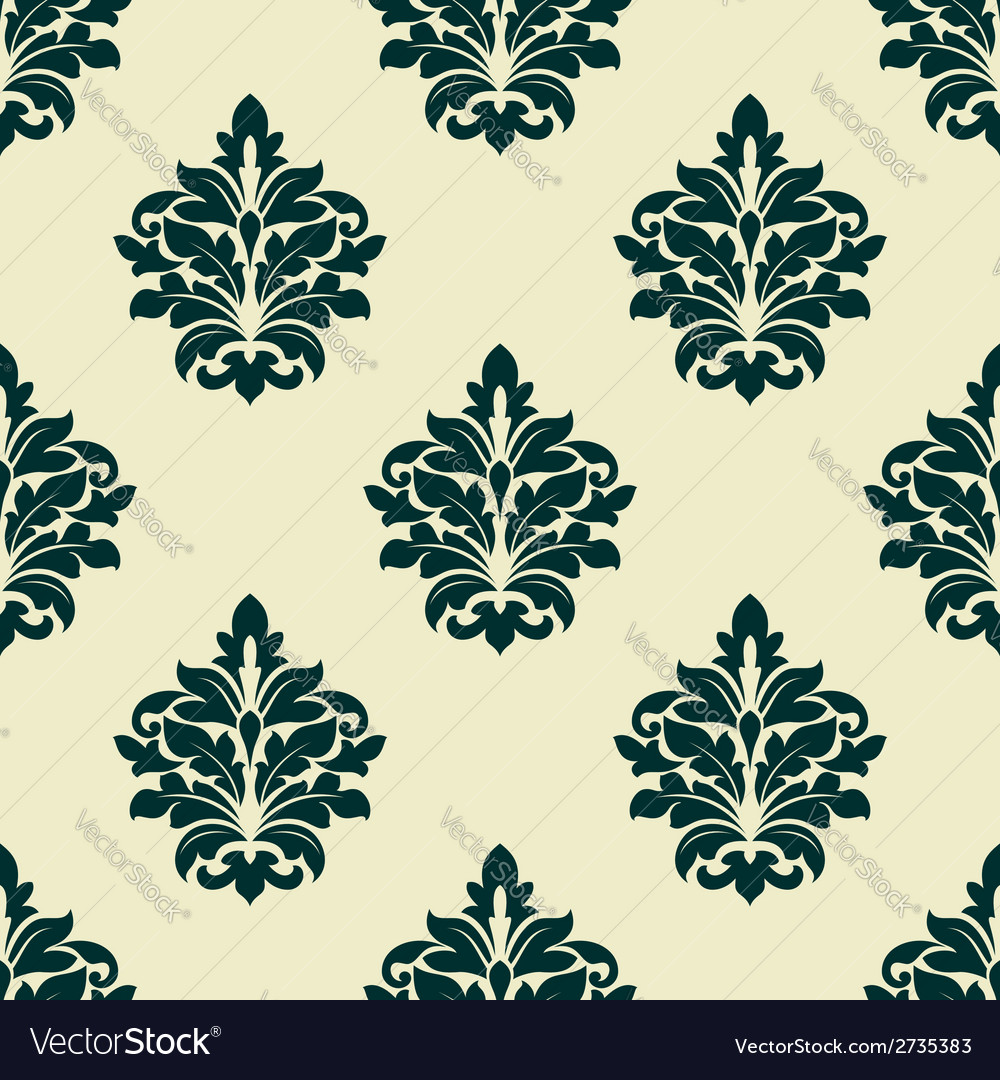 Floral seamless arabesque pattern vector | Price: 1 Credit (USD $1)