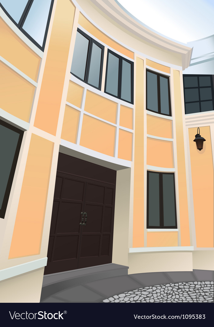 Front view of the building vector | Price: 1 Credit (USD $1)