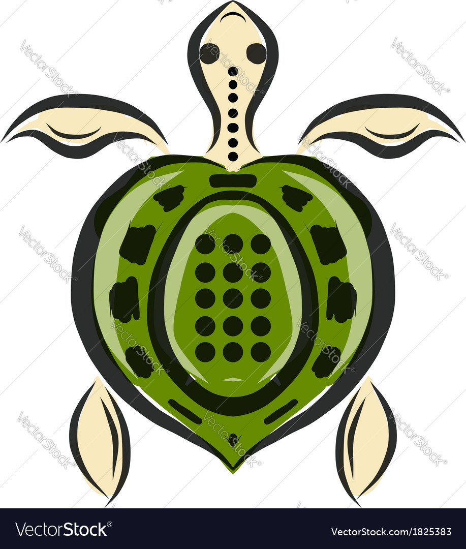 Funny sketch of tortoise for your design vector | Price: 1 Credit (USD $1)