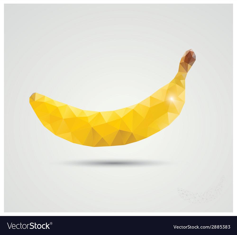 Geometric polygonal fruit triangles banana vector | Price: 1 Credit (USD $1)