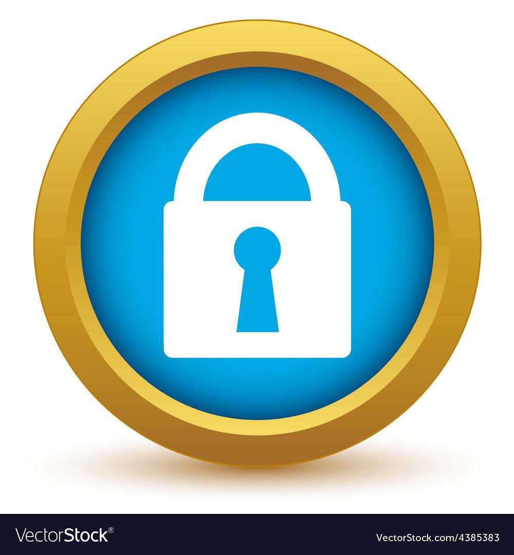 Gold lock icon vector | Price: 1 Credit (USD $1)