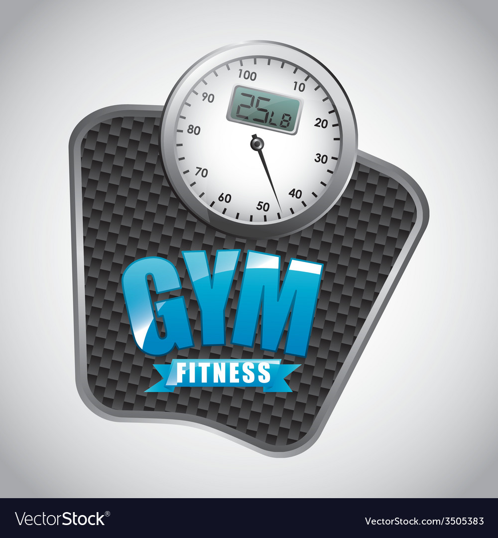 Gym label design vector | Price: 1 Credit (USD $1)