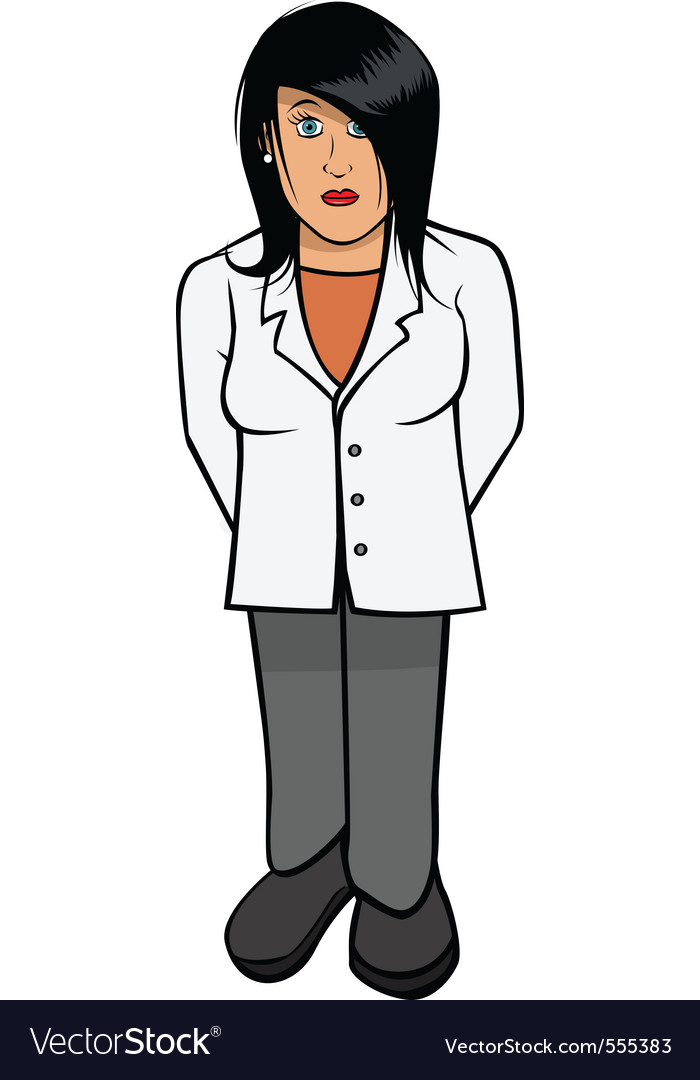 Lab coat scientist female vector | Price: 1 Credit (USD $1)