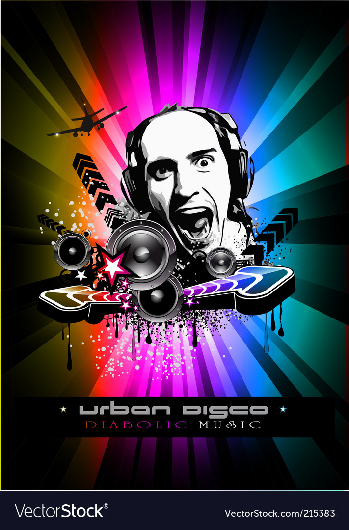 Music event background with dj vector | Price: 3 Credit (USD $3)