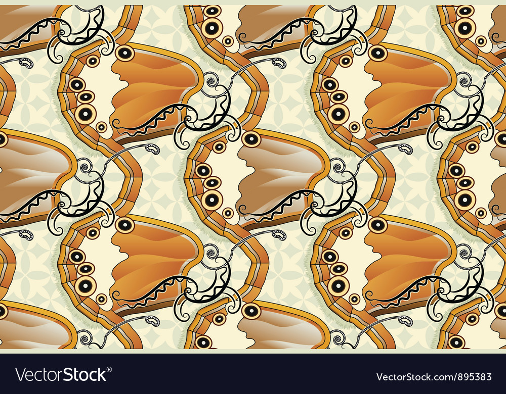 Seamless butterfly background - pearly heath vector | Price: 1 Credit (USD $1)