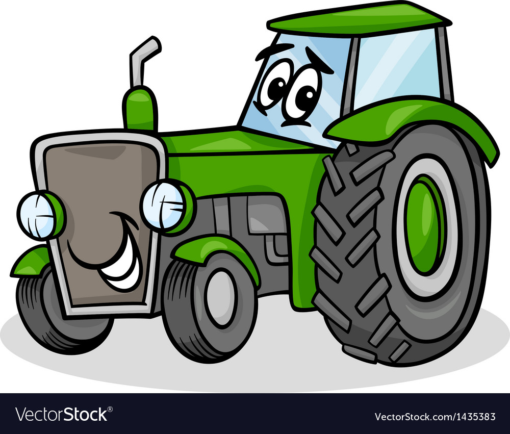 Tractor character cartoon vector | Price: 1 Credit (USD $1)