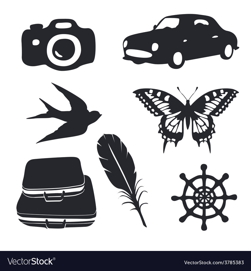 Travel pictograms set vector | Price: 1 Credit (USD $1)