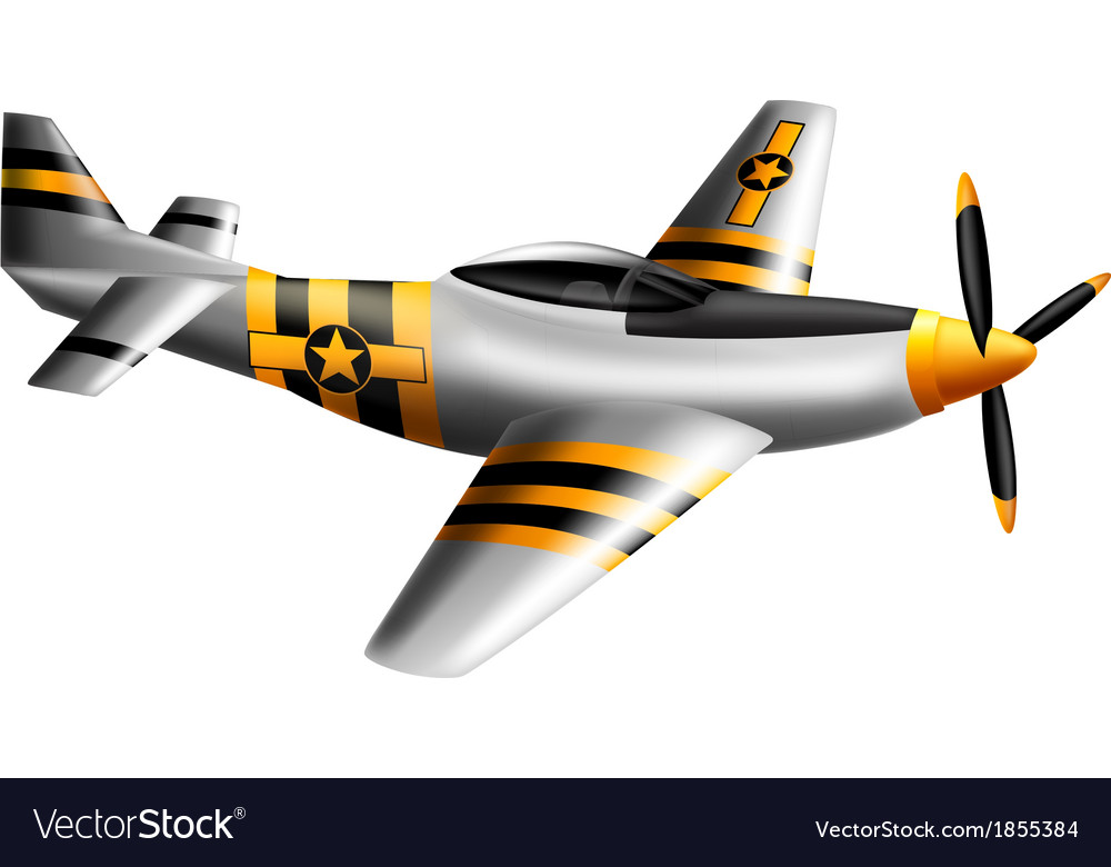 A mustang fighter plane vector | Price: 1 Credit (USD $1)