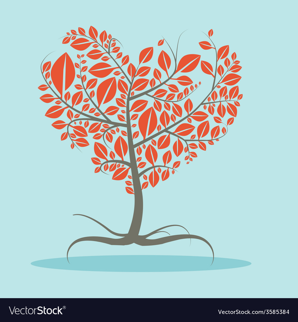Abstract flat design tree with roots vector | Price: 1 Credit (USD $1)